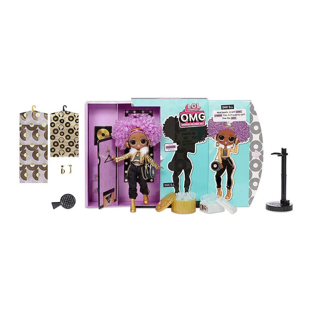 Большая кукла LOL OMG2 Winter Disco 24K D.J. с 20 сюрпризами